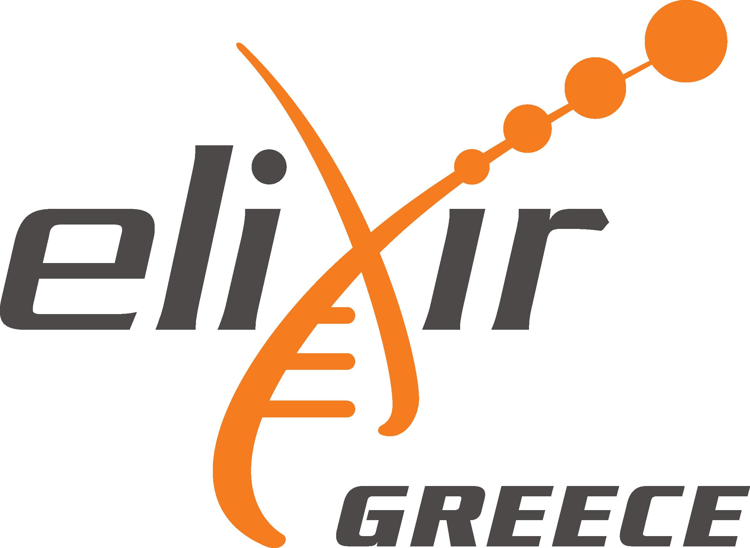 The Greek National Node of the ESFRI European RI ELIXIR logo